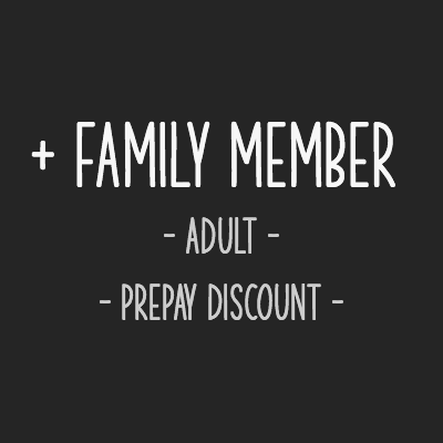 Add an adult family member to your existing membership for a discounted rate and get a prepay discount