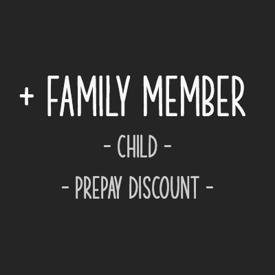 Add an adult family member to your existing membership for a discounted rate and get a prepaid discount